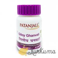 """""""Гилой гханвати"""" от """"Патанжали"""", 60 таб (Giloy Ghanvati Patanjali)"""