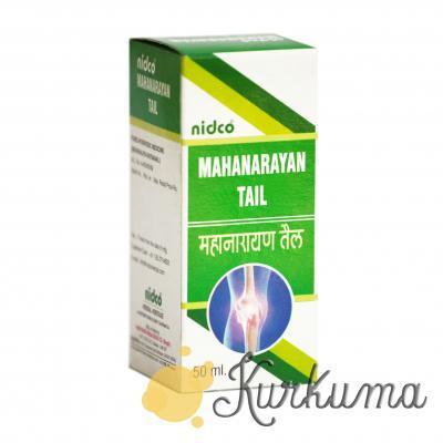 "Очищенное масло ""Маханараяна"" от компании ""Нидко"", 200 мл (Mahanarayan Tail Nidc"