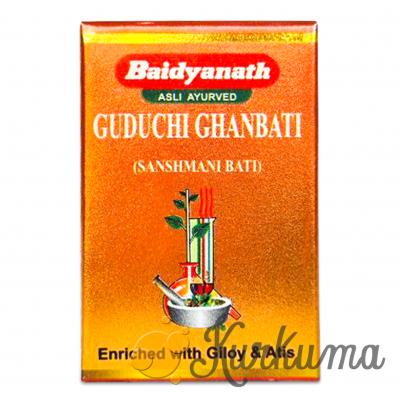 """Имунностимулятор Гудучи (гилой) гхан вати 20 таб """"Байдьянатх"""" (Guduchi Giloy Bai"""