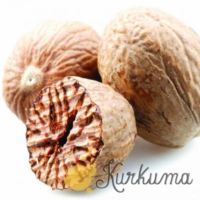 Мускатный орех целый, в скорлупе 50 грамм (Nut Meg)